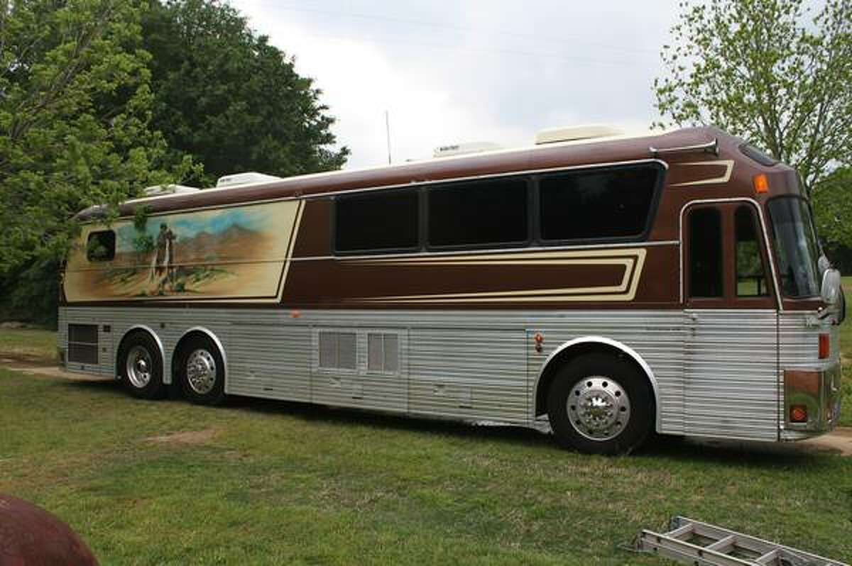 Tour bus used by the Willie Nelson Band is on sale.