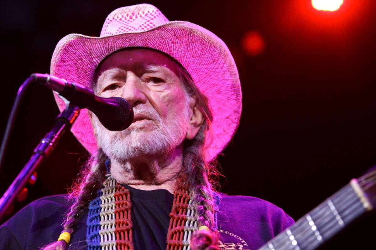 Willie Nelson performing on stage at the Pacific Amphitheater on July 13, 2012 in Costa Mesa, California.