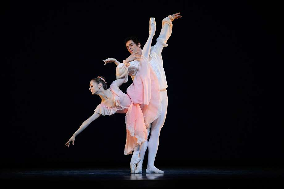 "San Francisco Ballet's Maria Kochetkova and Vitor Luiz perform in ""Brahms-Schoenberg Quartet."" Photo: Erik Tomasson, San Francisco Ballet"