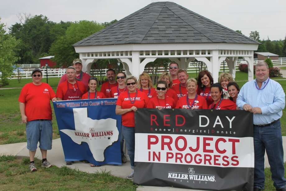 A large group of Keller Williams associates participated in last year's RED Day event.