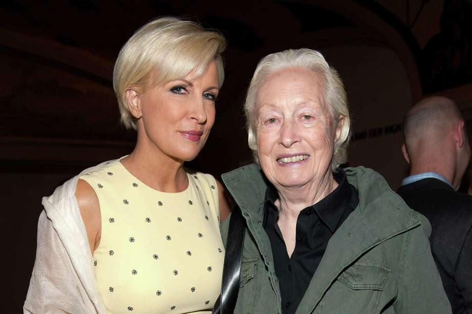Mika Brzezinski, left, and mother Emilie Brzezinski attended THRIVE: A Third Metric Live Event at New York City Center on April 24 in New York City. On Saturday, May 10, 2014, they will appear together at the New Canaan Library. Photo: D Dipasupil, Getty Images / 2014 Getty Images