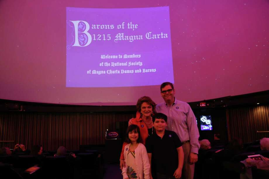 Beth and Ed Wolff, along with Ed's children, Tenley and Jake, attended a private reception held recently for Magna Carta descendants at the Houston Museum of Natural Science.