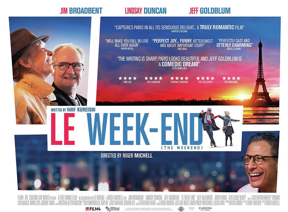 'Le Week-End'- Returning to Paris long after their honeymoon there, a British couple hopes to rediscover the magical feelings of their early years together. There, they meet an old friend whose perspectives on love and marriage help them recover what was lost. Available Sept. 6 Photo: Contributed Photo / Westport News