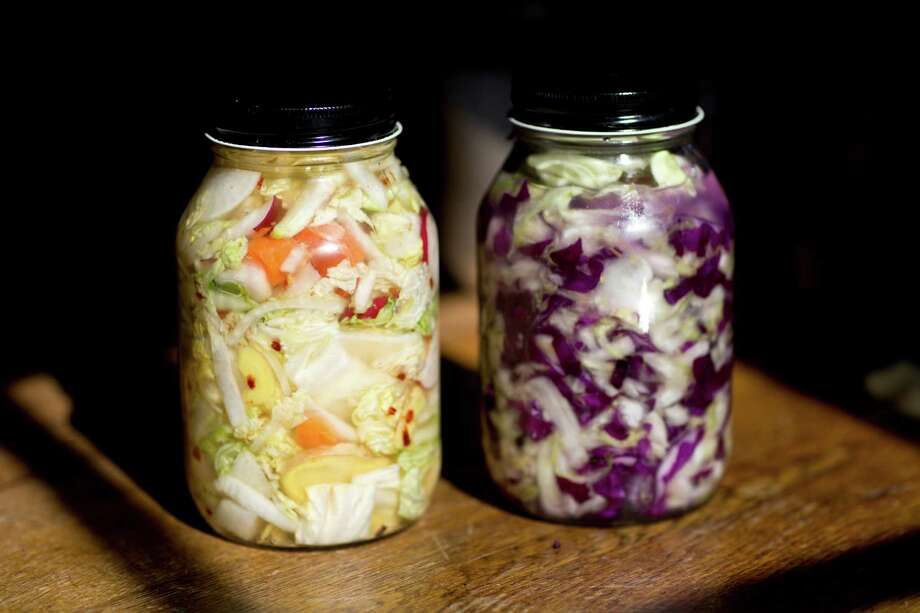 Kimchi and sauerkraut have health benefits because they contain lactobacilli, probiotics also found in yogurt. These bacteria bolster immune strength and ease intestinal distress. Photo: Laura Morton, Special To The Chronicle / ONLINE_YES