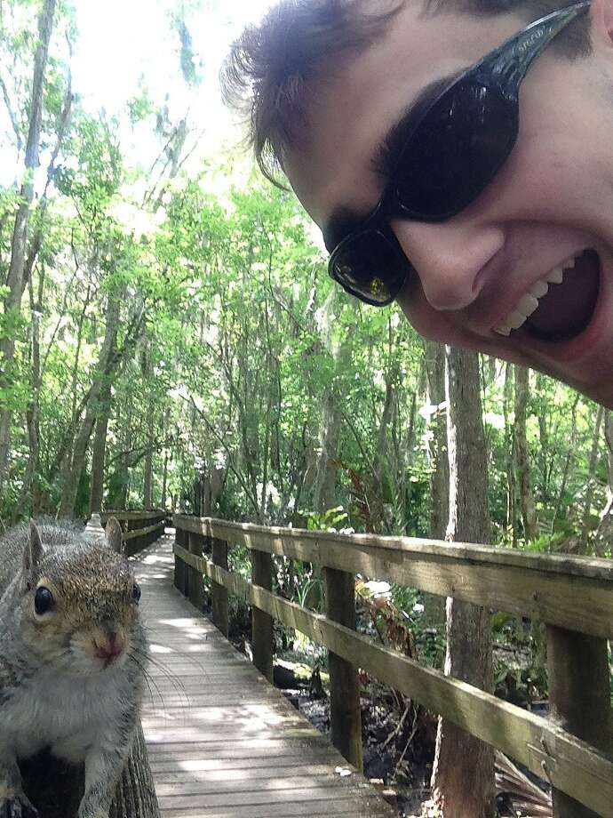 Why you should not take selfies with wildlife: Brian Genest snaps a photo of himself and a 