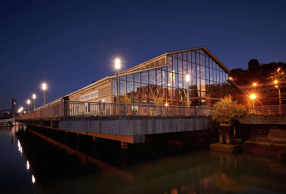 The Fossway Waterway Seaport, a maritime heritage museum on Puget Sound in Tacoma, Wash., recently expanded its historic wooden warehouse building to include a glass wall and new exhibits. Photo: Fossway Waterway Seaport