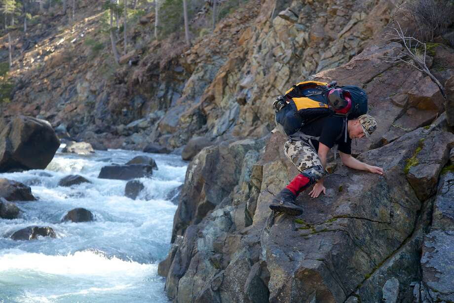 Daniel Wakefield Pasley makes his way along Baldface Creek in Oregon, which could be hurt by a potential nickel mine. Photo: Zachary Collier