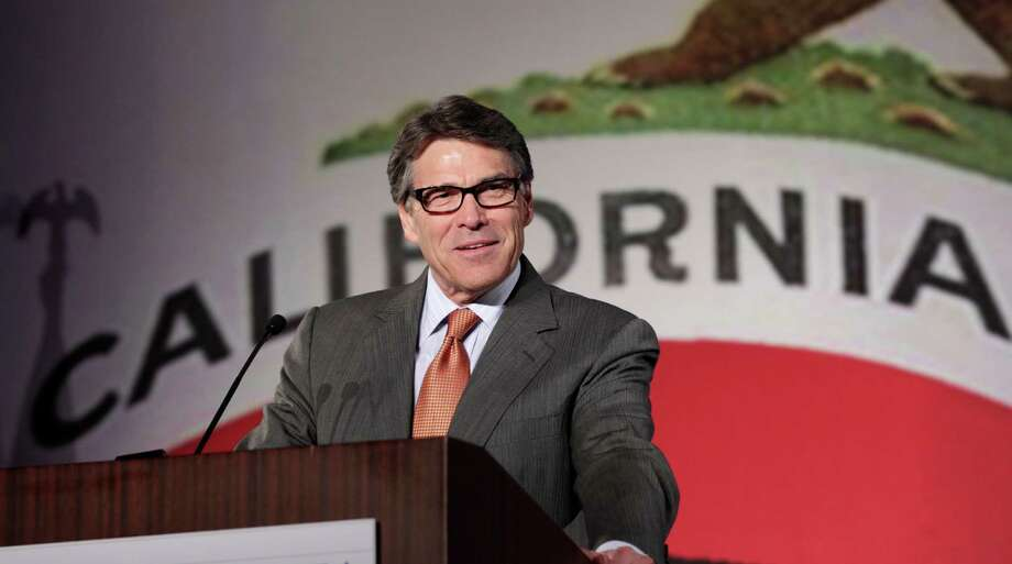 """""""I am a firm believer in intelligent design as a matter of faith and intellect, and I believe it should be presented in schools alongside the theories of evolution."""" —Rick Perry in 2010 Photo: Reed Saxon, Associated Press / AP"""