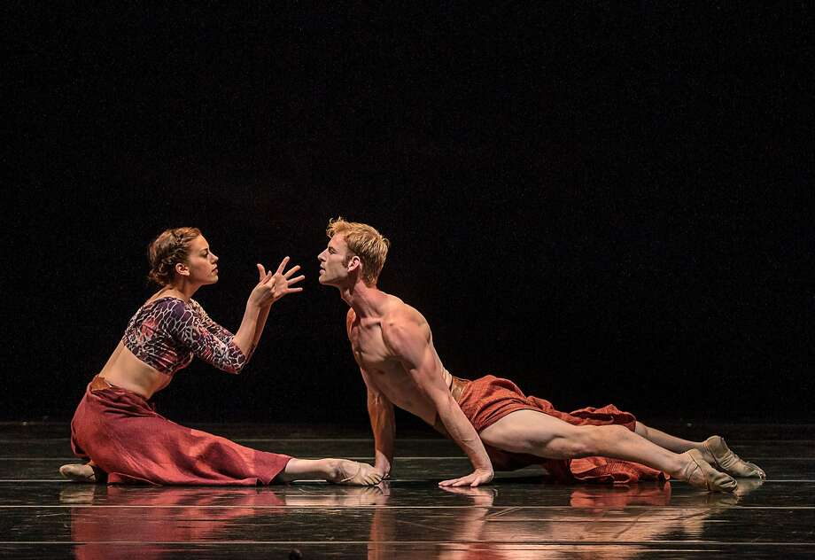 "Smuin Ballet's Susan Roemer and Joshua Reynolds celebrate the late Cape Verde singer and cultural icon Cesária Évora in Amy Seiwert's ""But Now I Must Rest."" Photo: Chris Hardy, Smuin Ballet"