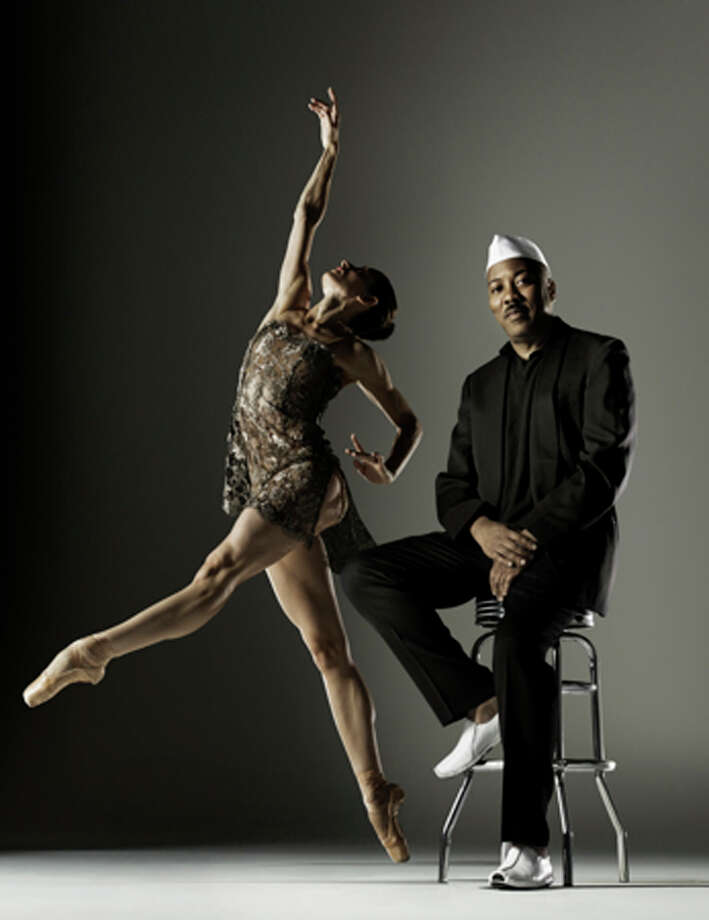 Choreographer Alonzo King, the founder of Alonzo King LINES Ballet, and dancer Lauren Keen. The company performs May 9 at the Wortham Theater Center, presented by Society for the Performing Arts. Photo: RJ Muna / ONLINE_YES