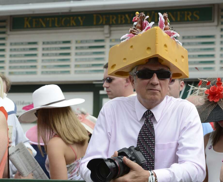 Jim Leuenberger of Shawamo Wis. shows his state pride at Churchill Downs in Louisville, KY. on a day when hats are everywhere on the day before the 138th running of The Kentucky Derby May 4, 2012.(Skip Dickstein / Times Union) Photo: SKIP DICKSTEIN, TIMES UNION