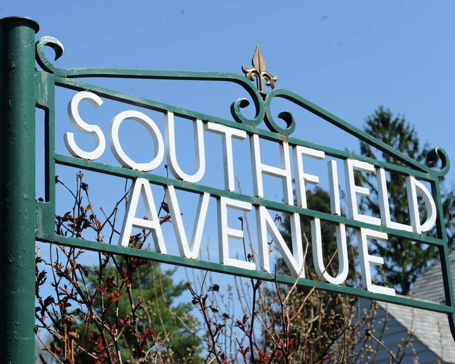 Street signs in Southfield Point on Monday April 21, 2014 in Stamford, Conn. Photo: Dru Nadler / Stamford Advocate Freelance