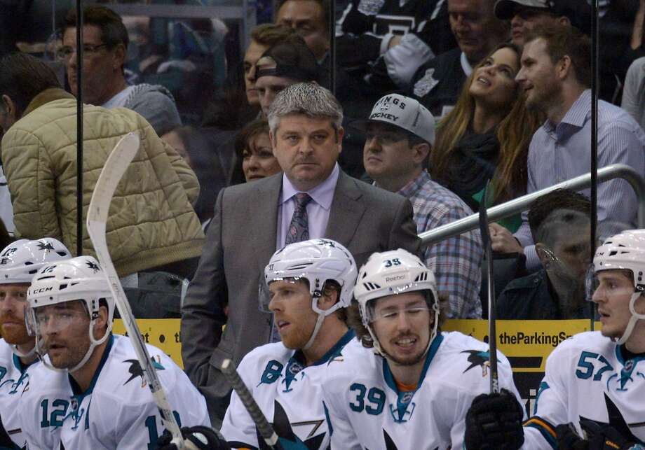Todd McLellan guided the Shakrs to the conference finals in 2010 and 2011. Photo: Kirby Lee, Reuters