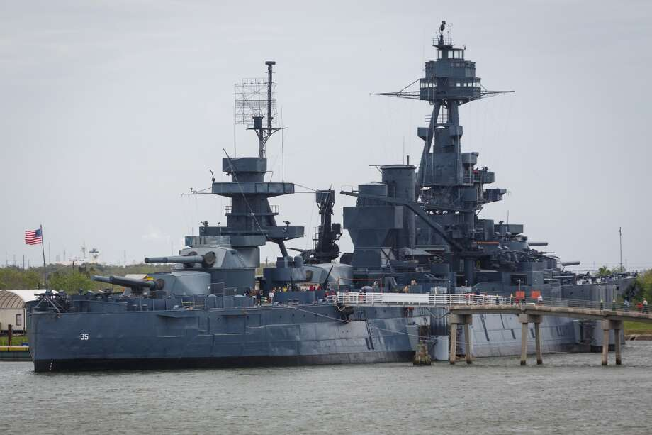 The Battleship Texas sits on the Houston Ship Channel directly across from a Kirby Inland Marine fleet, The San Jacinto Monument is also worth a visit. Photo: Michael Paulsen, Houston Chronicle
