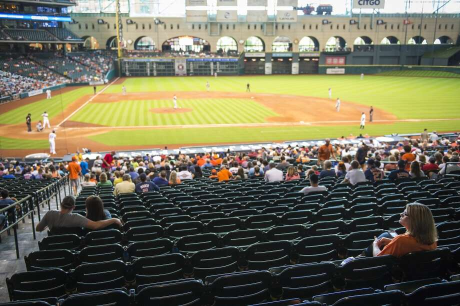 The Houston Astros won't be in town this week, but you could always take a tour of the stadium. Photo: Smiley N. Pool, Houston Chronicle