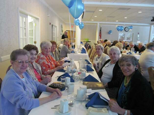 Colonie Senior Service Center hosted its 21st annual volunteer recognition dinner at the Beltrone Living center last month. Over the past year, 250 volunteers spent more than 16,000 hours helping seniors in dining, companionship, transportation and other tasks. Al and Lois Seigel, Laura Archambault and Rita Youmans were honored. (Submitted photo)