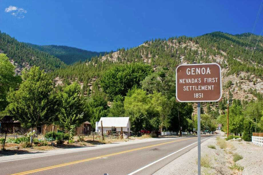 The sign signifying that you are entering Genoa, NV. Photo: Ryan Jerz, Nevada Commission On Tourism / 2008 Nevada Commission on Tourism