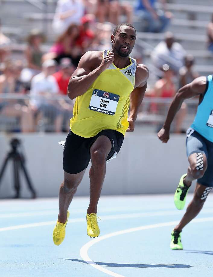 Tyson Gay can apply for reinstatement in June. Photo: Andy Lyons, Getty Images