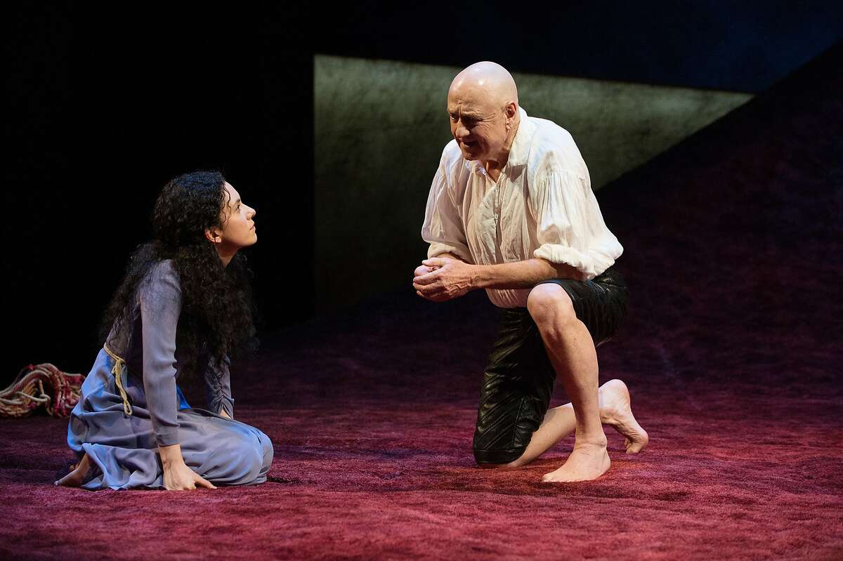 "Denis Arndt, right, as Prospero and Alejandra Escalente as Miranda in Oregon Shakespeare Festival's ""The Tempest,"" directed by Berkeley Rep' Tony Taccone"