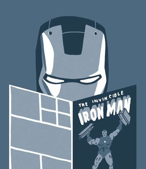 Iron Man – Often portrayed as cocky and conceited, Iron Man would totally read a comic about himse