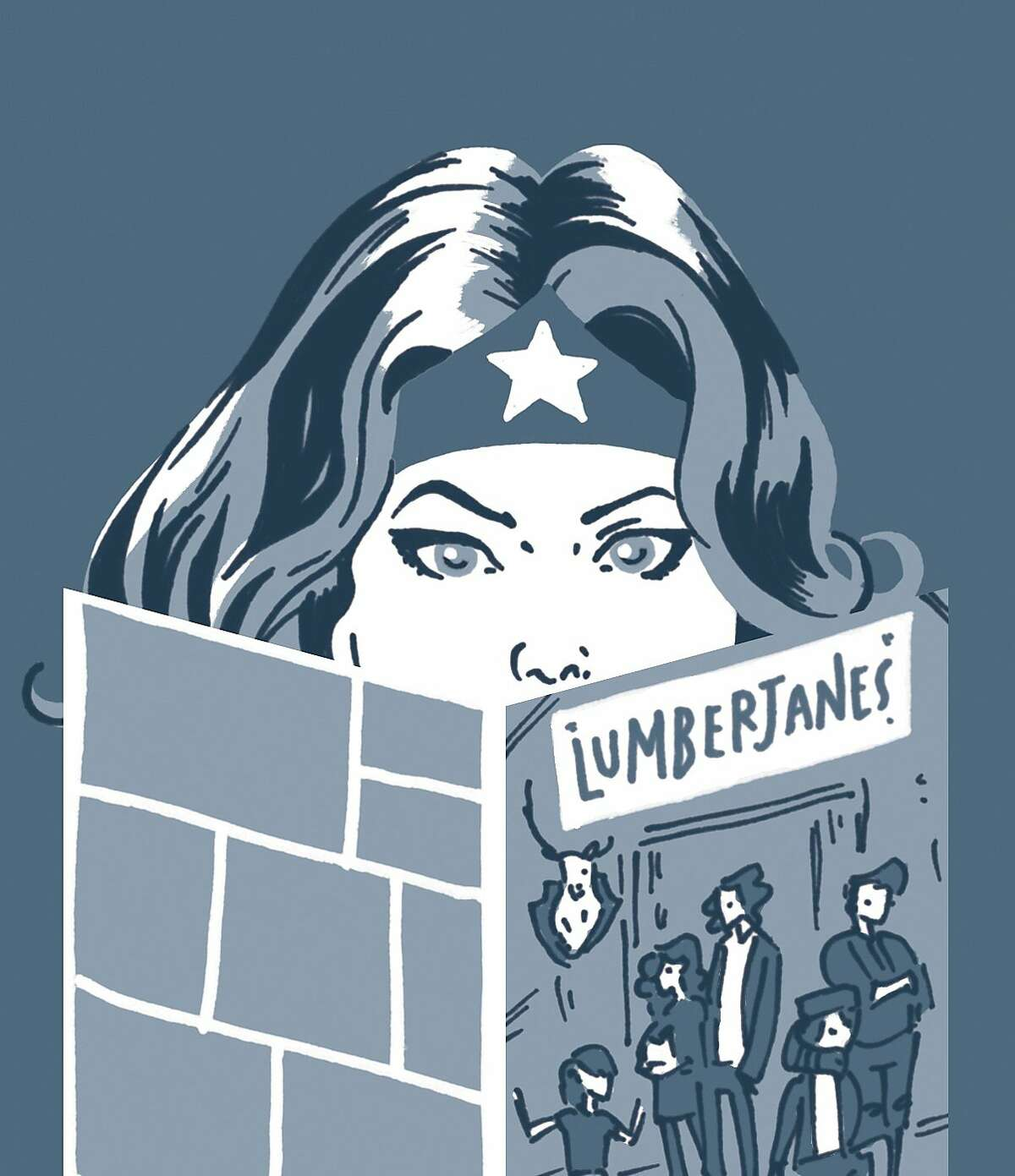 Wonder Woman - It seems appropriate for Wonder Woman, often seen as a feminist icon, to be reading Lumberjanes, a recently launched comic about a group of teenage girls battling supernatural creatures and solving mysteries that's written, illustrated, and edited by women.