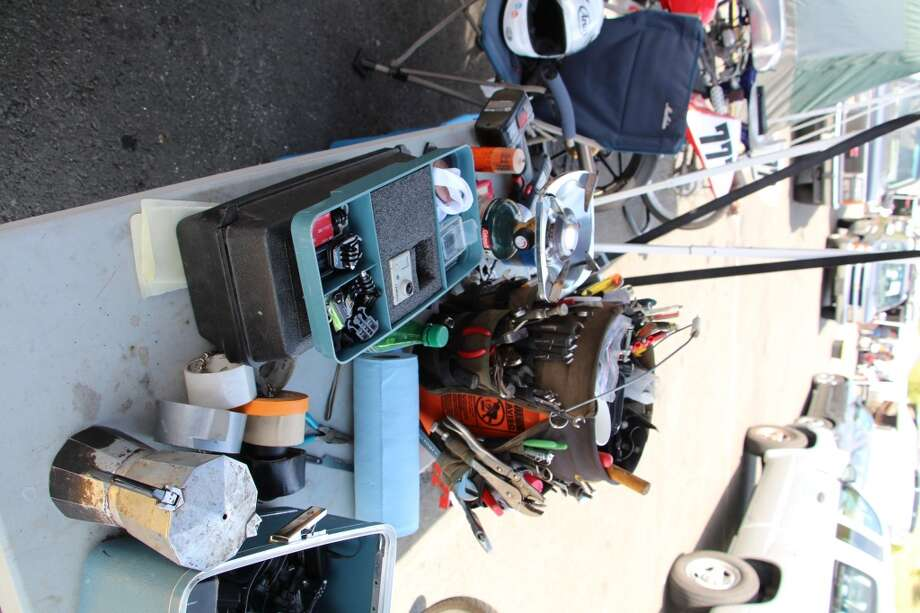 A roll of duct tape (near coffee pot, at bottom of photo) is always an essential item in any racer's toolbox.