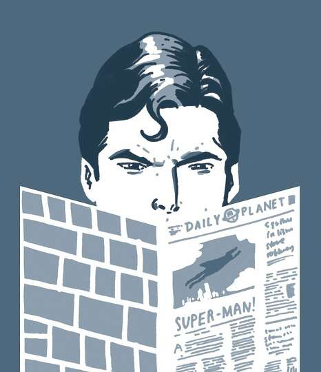Superman – Superman's alter ego, Clark Kent, is a reporter at the Daily Planet, a fictional newspa