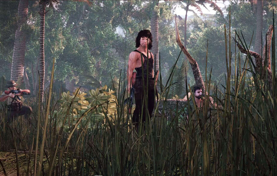 "The 1980s explosion hero John Rambo returns in video game form to once again wreak havoc against the Vietnamese, communists and blatantly obtuse Americans in ""Rambo: The Video Game."" Photo: Courtesy Reef Entertainment /"