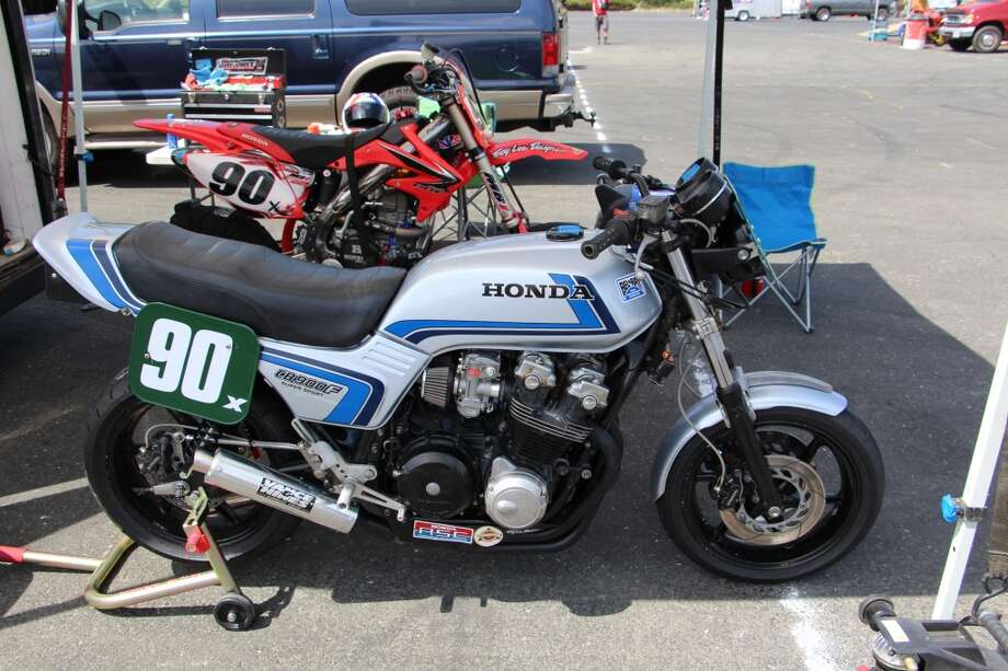 1981 Honda CB900F that was raced by Darrin Gauvin of Camarillo, Calif.