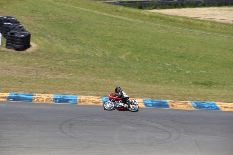 Lone racer on the Sonoma track.