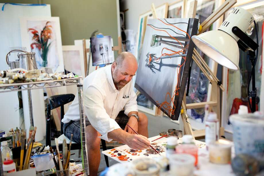 Hunters Point artists, such as Paul D. Gibson, open their studios twice a year. Photo: Tim Hussin, Special To The Chronicle