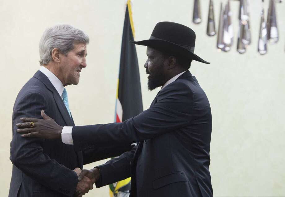 U.S. Secretary of State John Kerry said Friday that South Sudanese President Salva Kiir promised to open talks with a rebel leader. Photo: Saul Loeb, POOL / POOL AFP