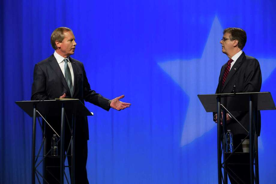 "Dewhurst: ""Are you John Kerry? You voted for the budget before you voted against it."" Photo: Eric Kayne, Associated Press / Houston Chronicle"