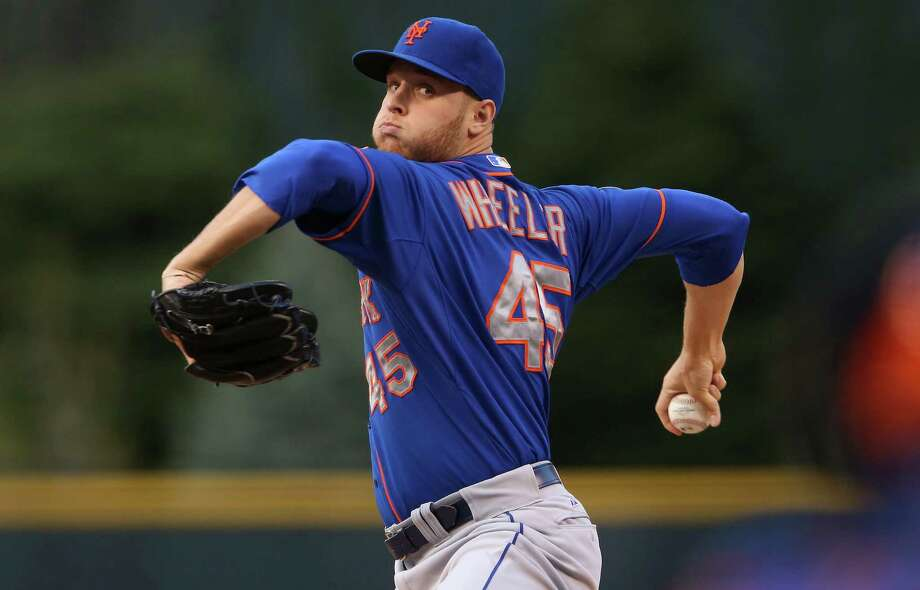 DENVER, CO - MAY 02:  Starting pitcher Zack Wheeler #45 of the New York Mets delivers against the Colorado Rockies at Coors Field on May 2, 2014 in Denver, Colorado.  (Photo by Doug Pensinger/Getty Images) ORG XMIT: 477582767 Photo: Doug Pensinger / 2014 Getty Images
