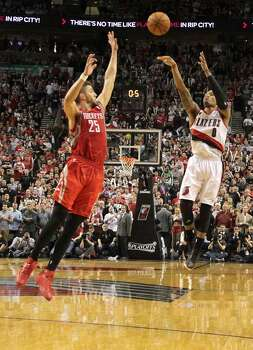 May 2: Trail Blazers 99, Rockets 98  The Rockets' season came to a crushing end as Damian Lillard hit one of the biggest buzzer-beaters in playoff history.  Series record: Portland wins 4-2 Photo: James Nielsen, Houston Chronicle