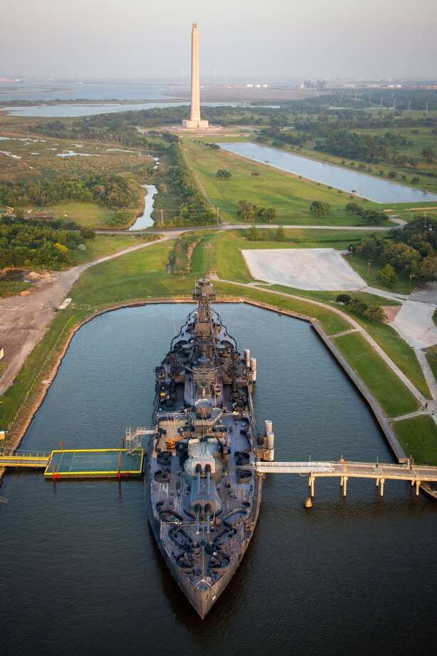 San Jacinto Monument and Battleship Texas Photo: Smiley N. Pool, Houston Chronicle