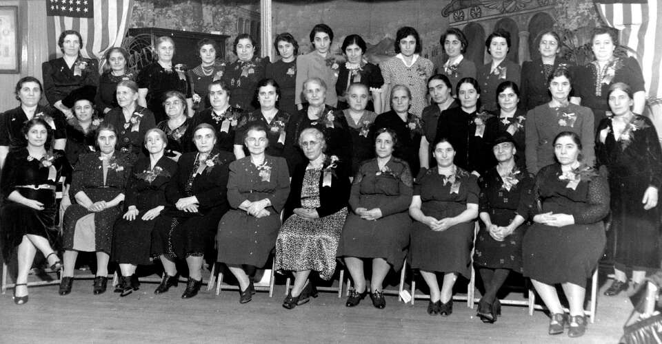 St. Peter Ladies' Aid Society is seen during its initial years of establishment in the Green Island