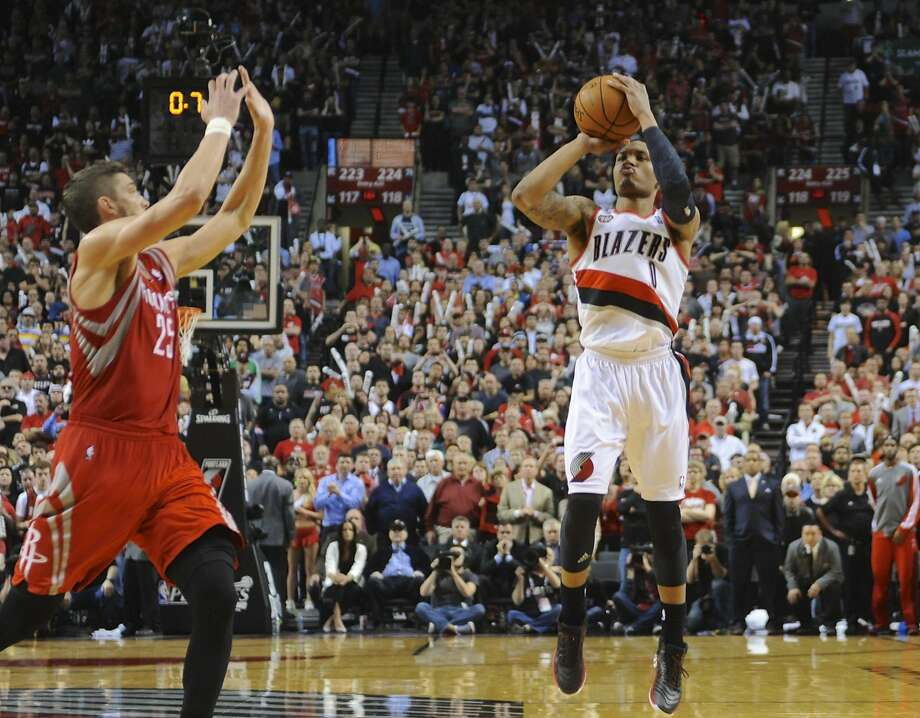 Damian Lillard, who had already demonstrated clutch shot-making ability this season, ended Houston's season Friday night. Photo: Greg Wahl-stephens, Associated Press