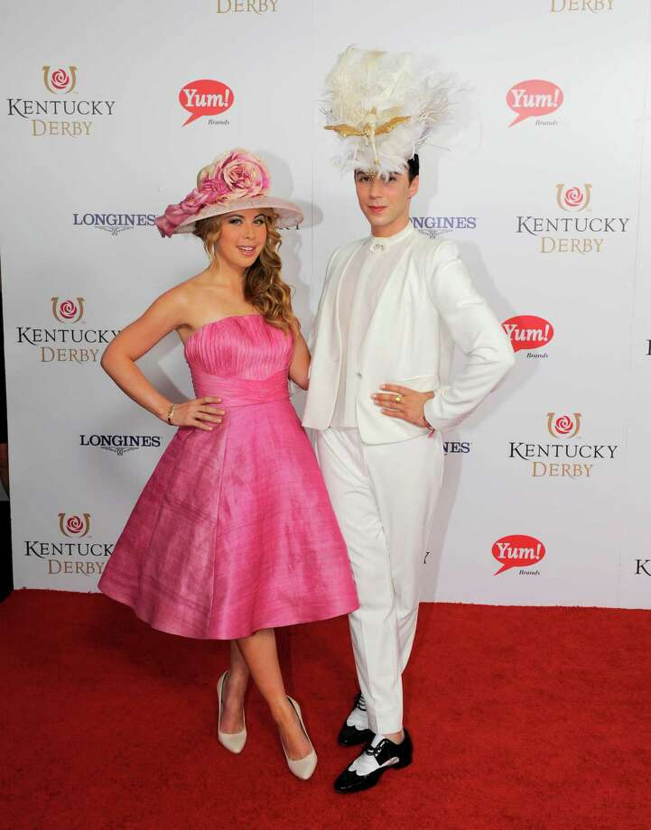 Tara Lipinski, left,  and Johhny Weir are photographed. Photo: Joe Imel, JOE IMEL/INVISION/AP / Invision