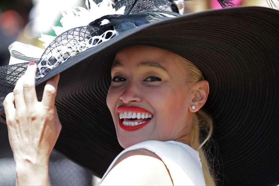 Katiana Garcia De La Rosa of Spain wears a hat. Photo: David J. Phillip, AP / AP