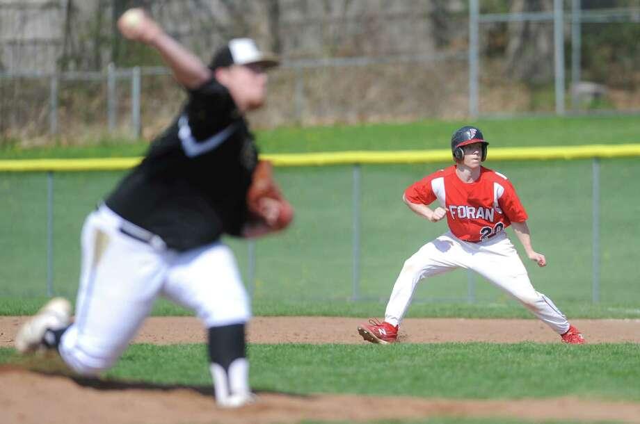 Foran baseball versus Jonathan Law Saturday, May 3, 2014, at Foran High School in Milford, Conn. Photo: Autumn Driscoll / Connecticut Post