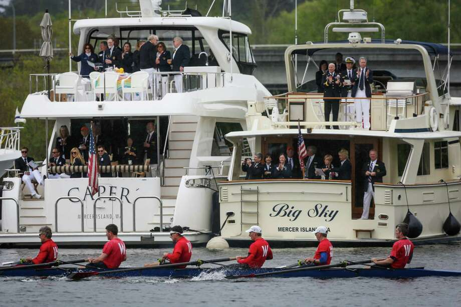 Rowers pass yachts during the annual Windermere Cup Regatta. Photo: JOSHUA TRUJILLO, SEATTLEPI.COM / SEATTLEPI.COM