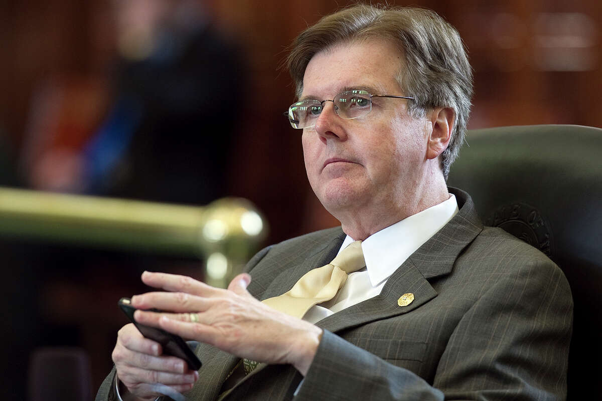 Texas State Senator Dan Patrick in the Senate Chambers at the Capitol, Friday, May 27, 2011 in Austin, Texas. (AP Photo/Austin American-Statesman, Deborah Cannon) MAGS OUT; NO SALES; TV OUT; INTERNET OUT; AP MEMBERS ONLY