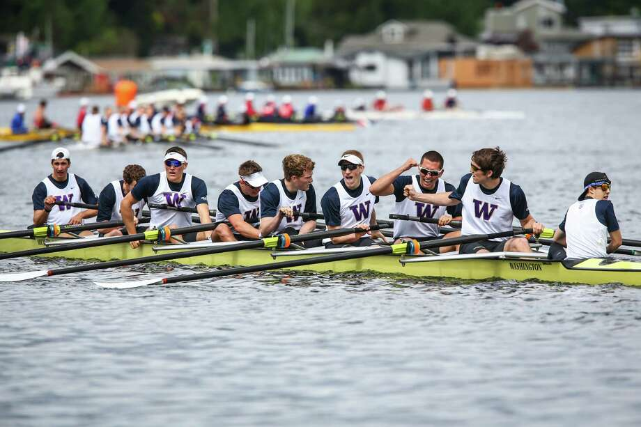 University of Washington rowers cross the finish line of the Erickson Cascade Cup during the annual Windermere Cup Regatta and official kickoff of the boating season. Photo: JOSHUA TRUJILLO, SEATTLEPI.COM / SEATTLEPI.COM
