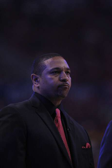 Warriors head coach Mark Jackson during a timeout in the first half. The Golden State Warriors played the Los Angeles Clippers at Staples Center in Los Angeles, Calif., in Game 7 of the Western Conference first round playoffs on Saturday, May 3, 2014. Photo: Carlos Avila Gonzalez, The Chronicle
