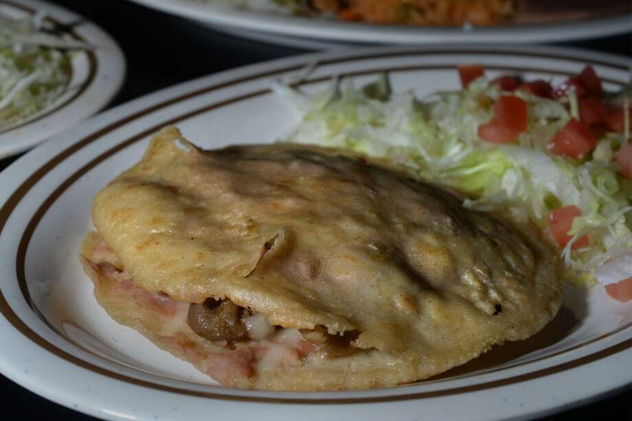 Gordita at the Taco Place in Beaumont. The dish is with mozzarella cheese, beans and meat. Photo taken Monday, April 21, 2014 Guiseppe Barranco/@spotnewsshooter