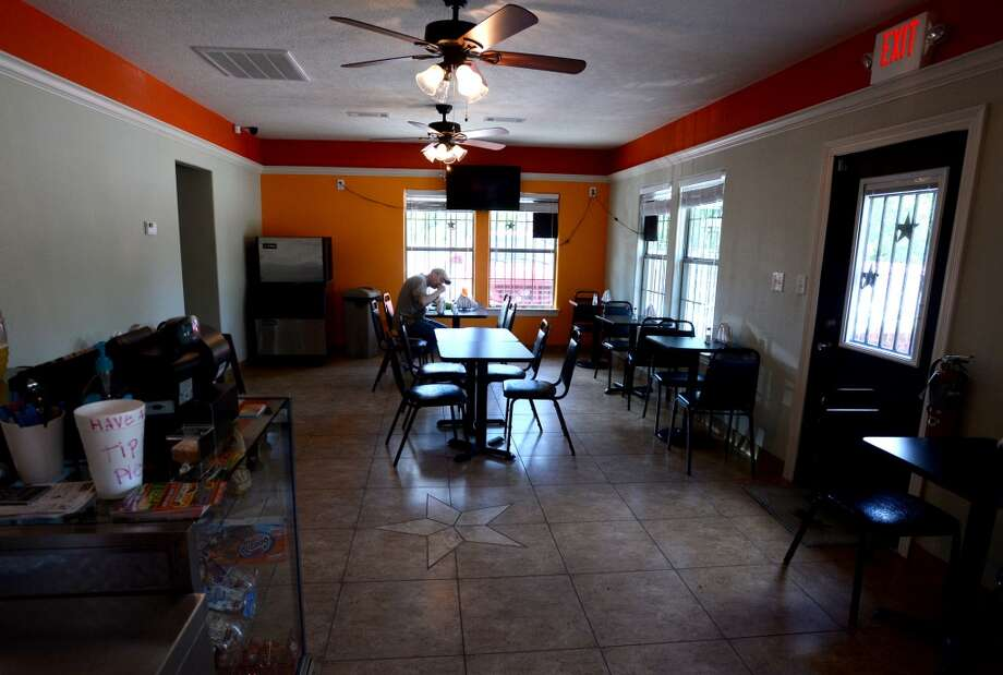 Dining room at the Taco Place in Beaumont. Patio dining is also available. Photo taken Monday, April 21, 2014 Guiseppe Barranco/@spotnewsshooter