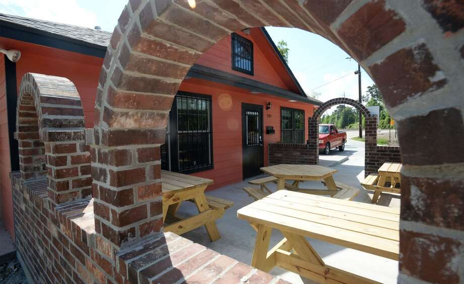 The Patio at the Taco Place in Beaumont. Photo taken Monday, April 21, 2014 Guiseppe Barranco/@spotnewsshooter