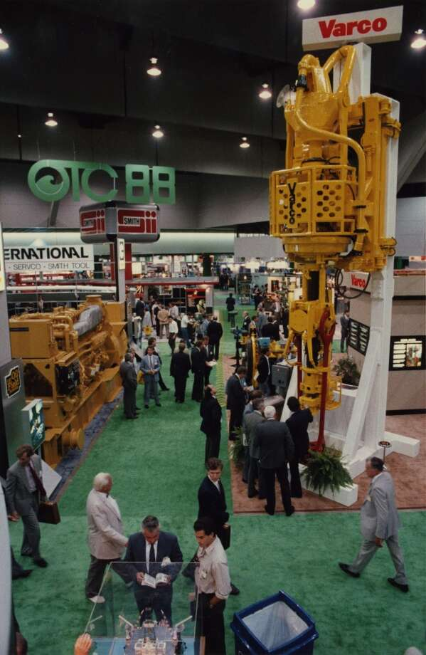 1988Attendance: 26,136  Space: 176,870 sf  Exhibiting companies: 1,165  [Photo: Offshore Technology Conference attendees view exhibits in the Astrohall.] Photo: Ira Strickstein, Houston Chronicle