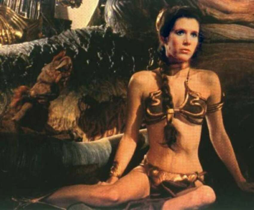 Yep, here's that gold bikini were were talking about from 1983's 'Star Wars: Episode VI - Return of the Jedi.'
